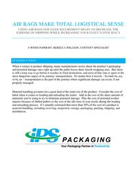 Dunnage Air Bags Whitepaper